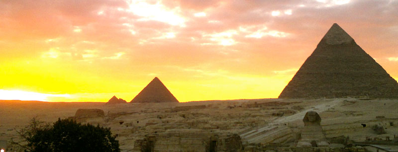 Giza-Plateau sunset