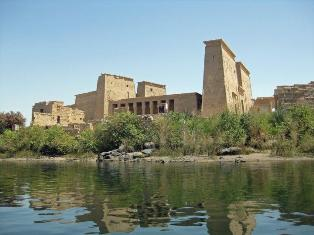 Philae Temple from boat